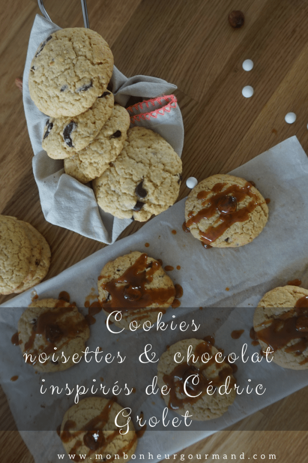 cookies noisettes et cranberry